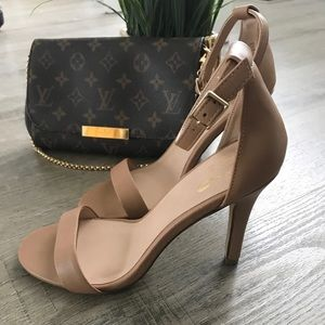 Shoes - Nude Ankle strap heels